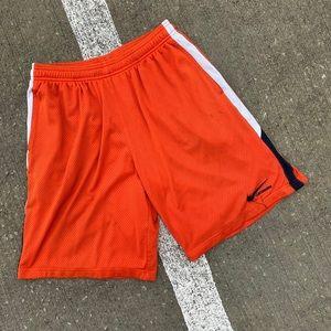 Orange Nike Lacrosse Gym Shorts